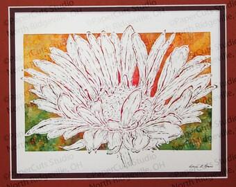 Gaillardia (blanket flower) Papercutting- Handcut Original (FINAL EDITION)