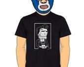 Johnny Cash Mugshot Calavera Men's T-Shirt Small, Medium, Large, X-Large in 5 Colors