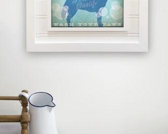 Siberian Husky soap company bathroom washroom  artwork giclee archival signed artists print