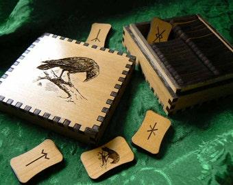 Raven Wisdom 34 Anglo Saxon Rune Set