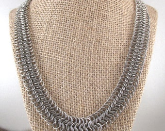 Chainmaille Stainless Steel European 6 in 1 Necklace