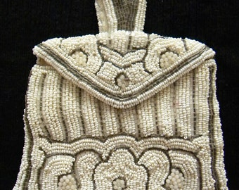 Antique Beaded Belt Purse