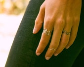 Half Circle Stacking Ring - Set of 2