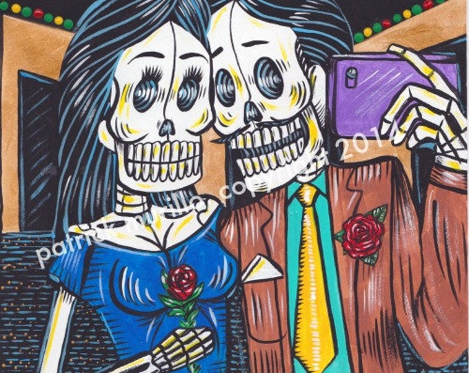 Day of the Dead Print: Vegas Selfie