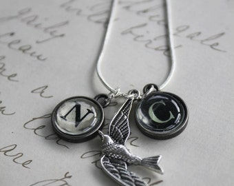 Personalised Bluebird Necklace