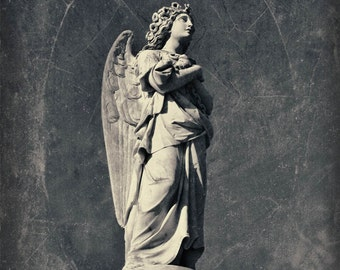 cemetery angel guardian angel headstone statue photography home decor nursery decor