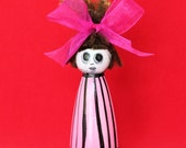 Ghost Doll dressed in Pink Stripes