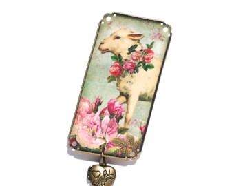 Lamb Brooch - Sheep Brooch - Woodland Brooch - Animal Brooch - Lamb Jewelry - Lamb - Sheep - Forest - Animal - Animals with Clothes