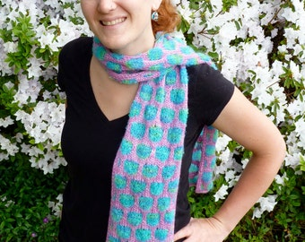 KNITTING PATTERN- Lotus Scarf PDF Download
