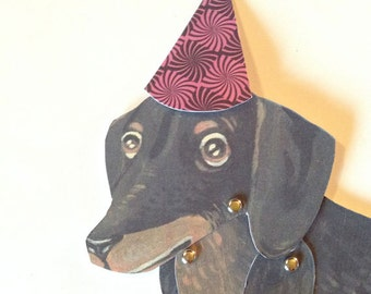 DIY Cute Dachshund Weiner Dog Paper Doll For Party For Children For Paper Crafts