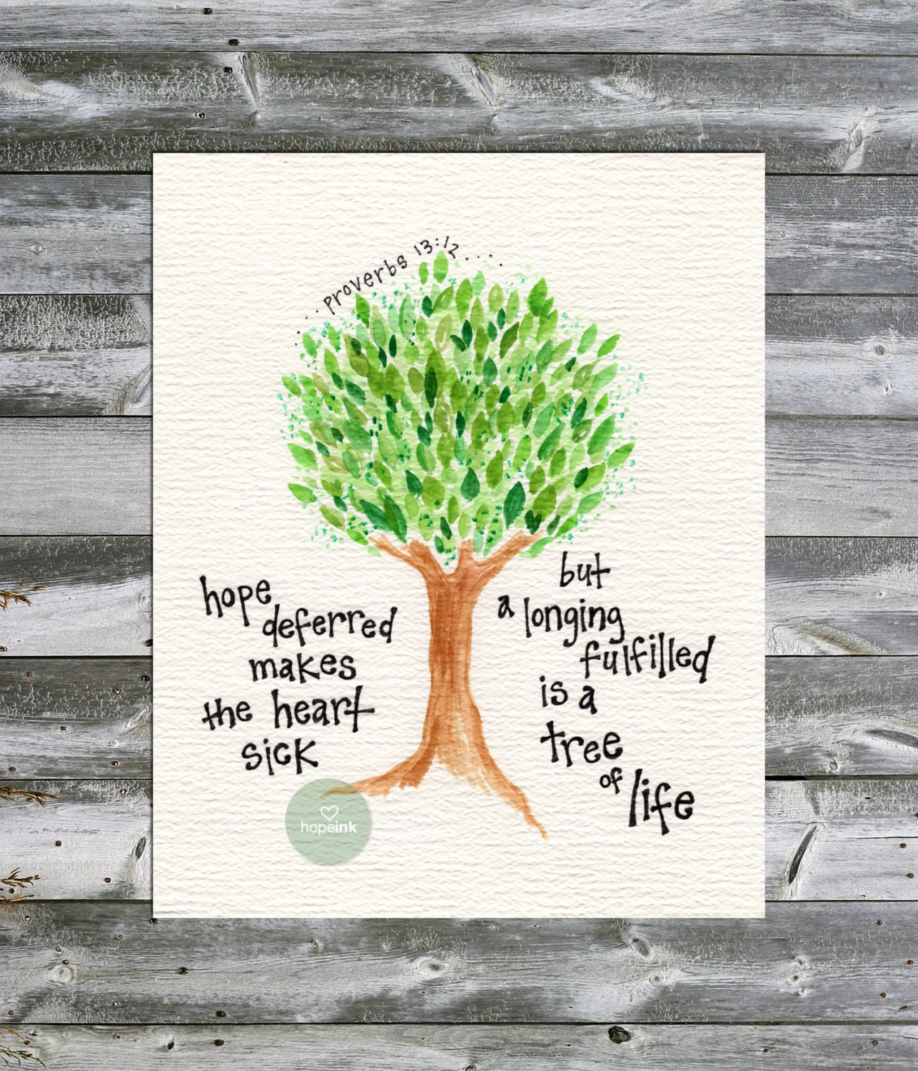 Christmas Tree In The Bible Scripture: Items Similar To Scripture Art Print, Tree Of Life