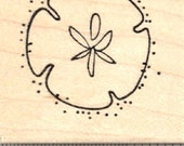 Sand Dollar Rubber Stamp D21719 Wood Mounted