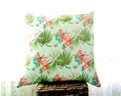 Palm Mint Green Cushion Cover 18x18 Inch - MADE TO ORDER