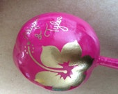 Hibiscus design & Personalized Maracas (per piece) with bride and groom names