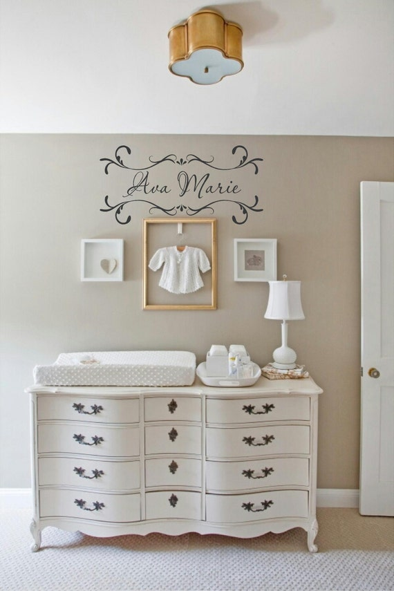 Personalized Girl Name Shabby Chic Vinyl Lettering Wall Art In Words Decal