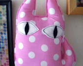 Cat Fabric Pink- Handmade Stuffed Toys For Kids