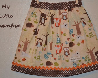 My Forest Friends Young Girls Skirt