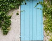 "Paris Photography, ""Blue Shutters"" Paris Print Extra Large Wall Art Prints, Paris Wall Decor"
