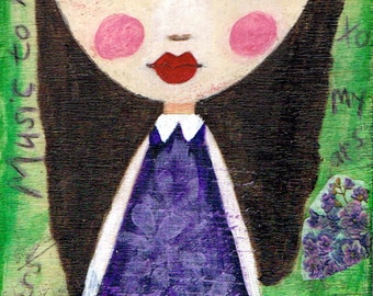 Music To My Ears - Big Eyes Art - Reproduction of Original Art Work by Jessi Designs