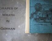 Grapes of Wrath Book, German Translation, Dated 1966, Fruchte Des Zorns, John Steinbeck, Hardback