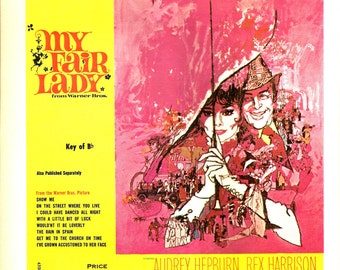 My Fair Lady - Street Where You Live - Audrey Hepburn - Music Print - Vintage Sheet Music Book Page - Music Cover Art - Better Homes Garden