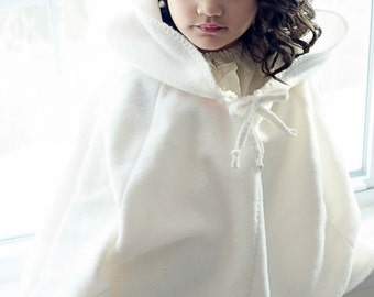 Girls cape - hooded cape - hooded poncho - wedding cape - hooded cloak -  girls poncho - beach wedding - toddler cape - girls Easter outfit