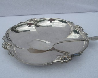 Vintage Silverplate Dish - International Silver Co., with Jelly Jam server Oneida Silverplate (community plate)