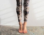 wild print leggings, high waist,