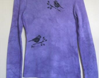 CHICKADEE Airbrushed and Tye Dyed Longsleeve Cotton T-Shirt
