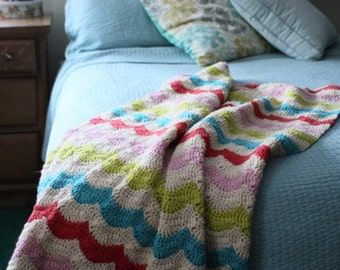 Crochet Blanket Pattern - Happy Throw