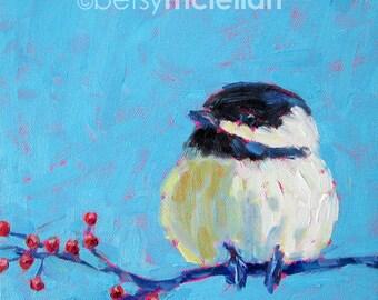 Chickadee - Chickadee Art - Bird Art - Giclee Print