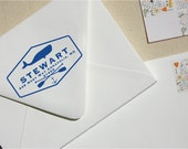 Sarah C Baron - Custom Wooden Rubber Whale Address Stamp