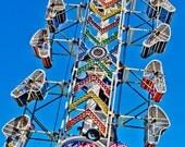The Zipper Carnival Ride Fine Art Print- Carnival Art, County Fair, Nursery Decor, HomeDecor, Children, Baby, Kids