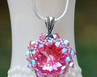 Pretty In Pink Swarovski Crystal Necklace