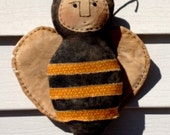 Primitve Folk Art Bee Hanging Doll