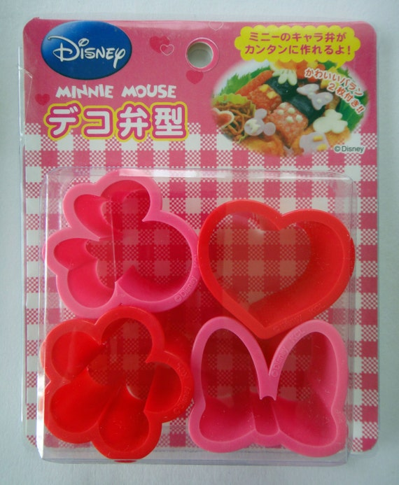 disney minnie mouse japanese cookie cutters bento lunch box rice molds ham cheese. Black Bedroom Furniture Sets. Home Design Ideas