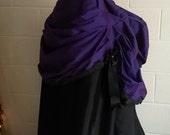 Steampunk Skirt, Parlour Bustle Skirt, Victorian Costume, Goth Bustle, Black Lace, CUSTOMISABLE