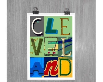CLEVELAND - 4 x 6 photograph COLORFUL
