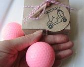 Golf Ball Soap Set  - Goat milk Soap,  Gift Set for Her, Hot Pink golf balls, Teen gift,  Novelty,  Mothers Day, Shaped soap, Soap Favors