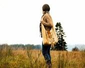 Elk Meadow Hobo Bag . Leather fringe tapestry Vintage Embroidery Western Cowgirl Weekend Satchel - ZiBagz
