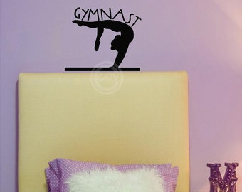 Gymnast Decal wall saying vinyl lettering decal