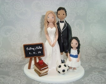 Custom Handmade Family Cake Topper