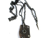 leather necklace, mad max, tank girl, distressed, raw, primitive, post apocalyptic : Renegade Icon Designs