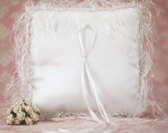 Satin and Silk Wedding Ring Bearer Pillow - 7532511