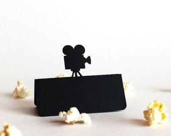Movie Camera Place Card Set of 100, movie wedding, hollywood wedding, wedding place card, wedding escort card