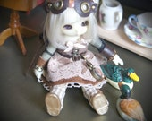 CUTE pukipuki doll dress goggles top hat pocket watch spats OUTFIT clothing 9pcs Steampunk #5