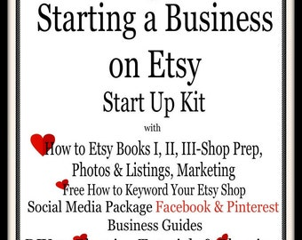 How to Set Up Shop-Open Shop-Starting a Business on Etsy-Complete Start Up Kit-Business-Blogging-Social Media-Keyword Research-Veteran Tips