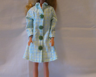 Coat, Sheath Dress, and Boots Outfit for Barbie