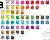 18 Inch YKK Closed Bottom Zippers (10) Pieces Mix and Match - Parrot Blue Bubblegum Pink Violet Cream Beige Purple