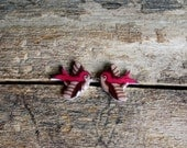 Plump Lil Swallow Tattoo Earrings in Pink Cocoa